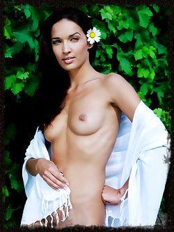 Olga's exotic allure portrays a ultra-seductive femme...