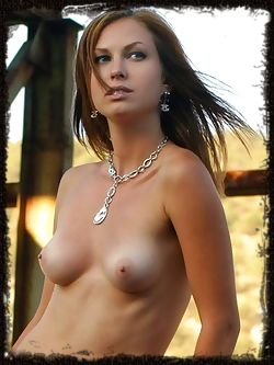 Ingret has brown hair and blue eyes, she has great breast...