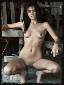 Mila Mendes evokes a mysterious yet seductive aura in her...
