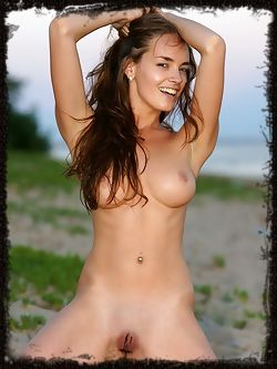 Busty brunette with breathtaking physique and fun, carefree...