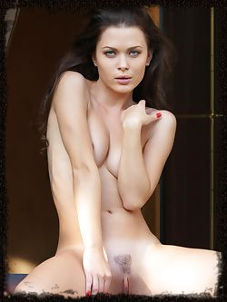 Exquisite Amelie B naked poised and perfect in her window...