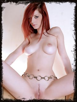 Fancy redhead with ivory skin and round full boobs is fast...