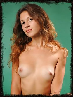 New model is athletic with big brown hair and small breasts...