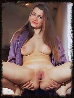 Pandora B shows off her sweet, delectable pussy as she...