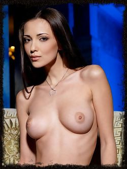 Sultry Anna AJ show off her spectacular breasts and sexy...